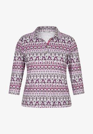 MIT KRAGEN UND GLITZER-DETAILS - Long sleeved top - pink