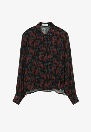 CALVIN - Button-down blouse - černá