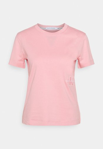 OFF PLACED MONOGRAM TEE - T-shirts - soft berry