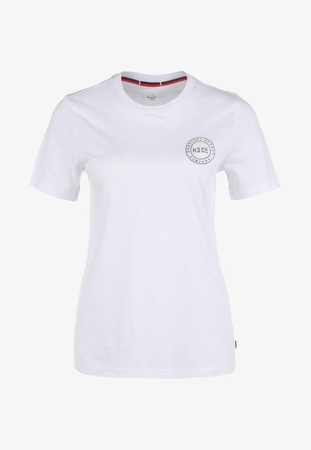 Camiseta estampada - bright white/black