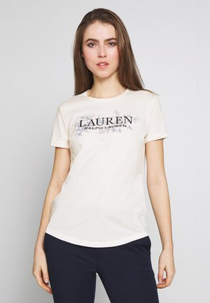 LIQUID - Camiseta estampada - mascarpone cream