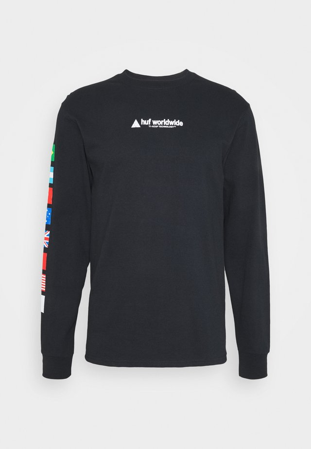 FLAG UNION TEE - Longsleeve - black