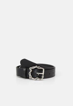 CEINTURE EN CUIR LISSE AVEC BOUCLE SERPENT - Waist belt - black