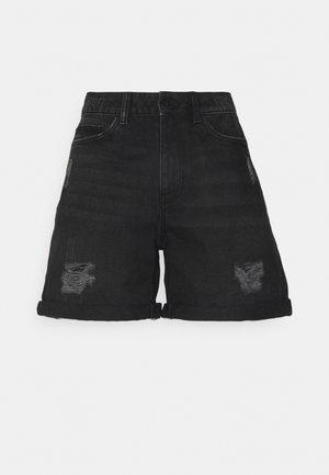 NMSMILEY - Shorts vaqueros - black denim