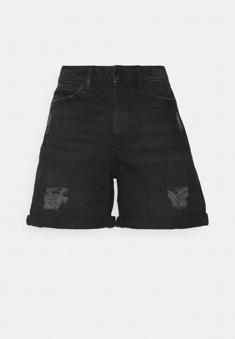 Noisy May Tall - NMSMILEY - Szorty jeansowe - black denim