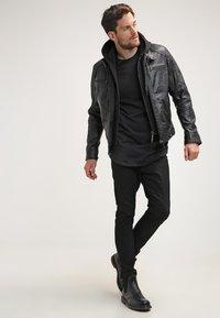 Serge Pariente - ERIC HOOD - Leather jacket - black - 1