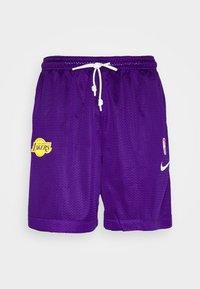 Nike Performance - LAKERS STANDARD ISSUE - Sports shorts - field purple/black amarillo/white - 4