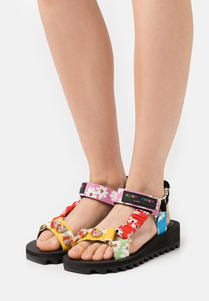 ORION - Wedge sandals - multicolor