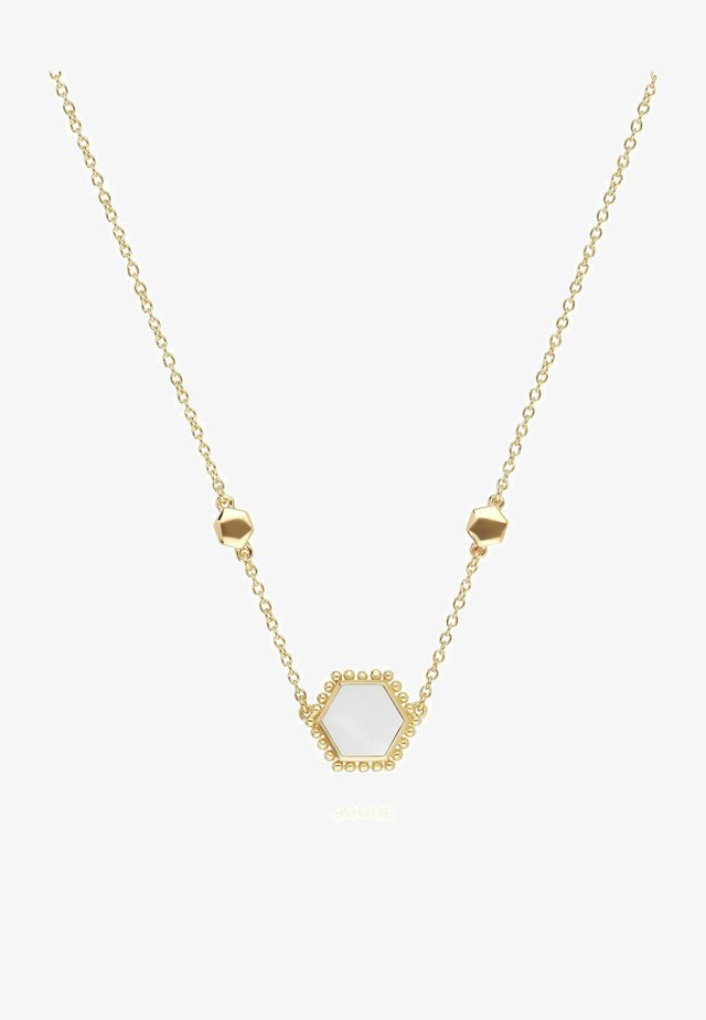 MOTHER OF PEARL - Necklace - white
