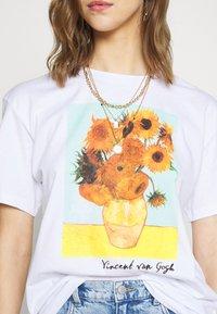 Even&Odd - T-shirt con stampa - white - 4