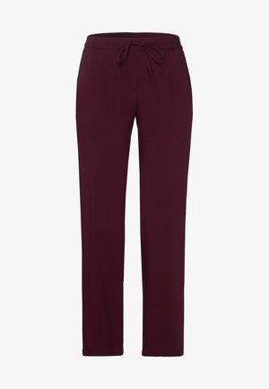 Trousers - red grape