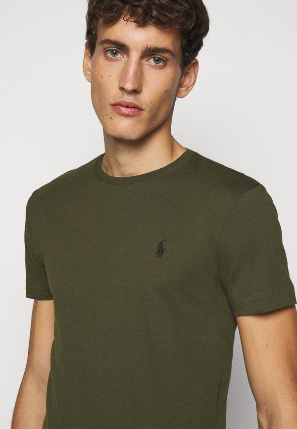 Polo Ralph Lauren T-shirt basic - company olive/oliwkowy Odzież Męska GCDQ