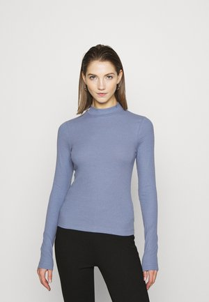 VERA MOCKNECK - Long sleeved top - dusty blue