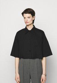 MM6 Maison Margiela - Button-down blouse - black - 0