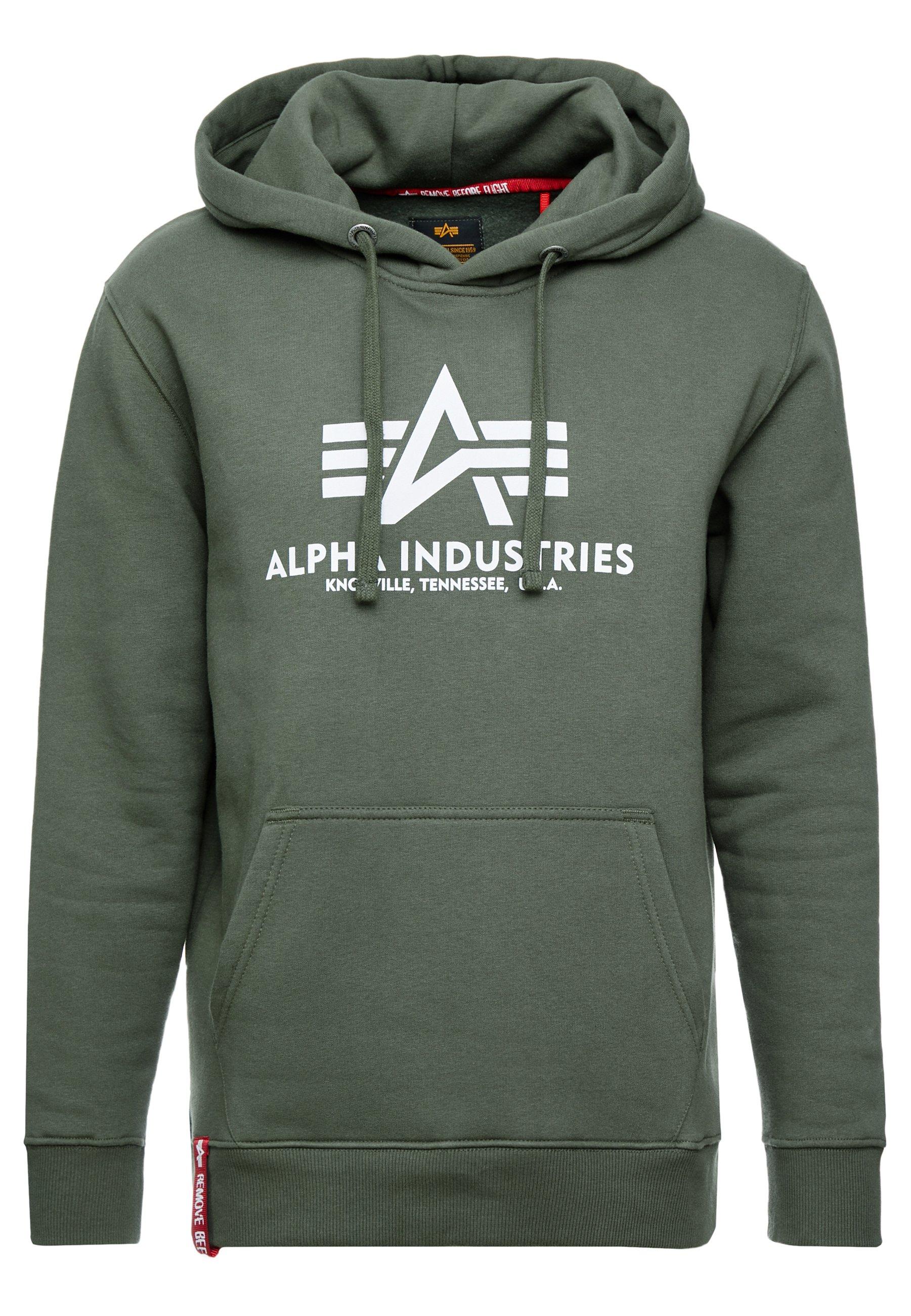 Alpha Industries Sweat à capuche - dark olive