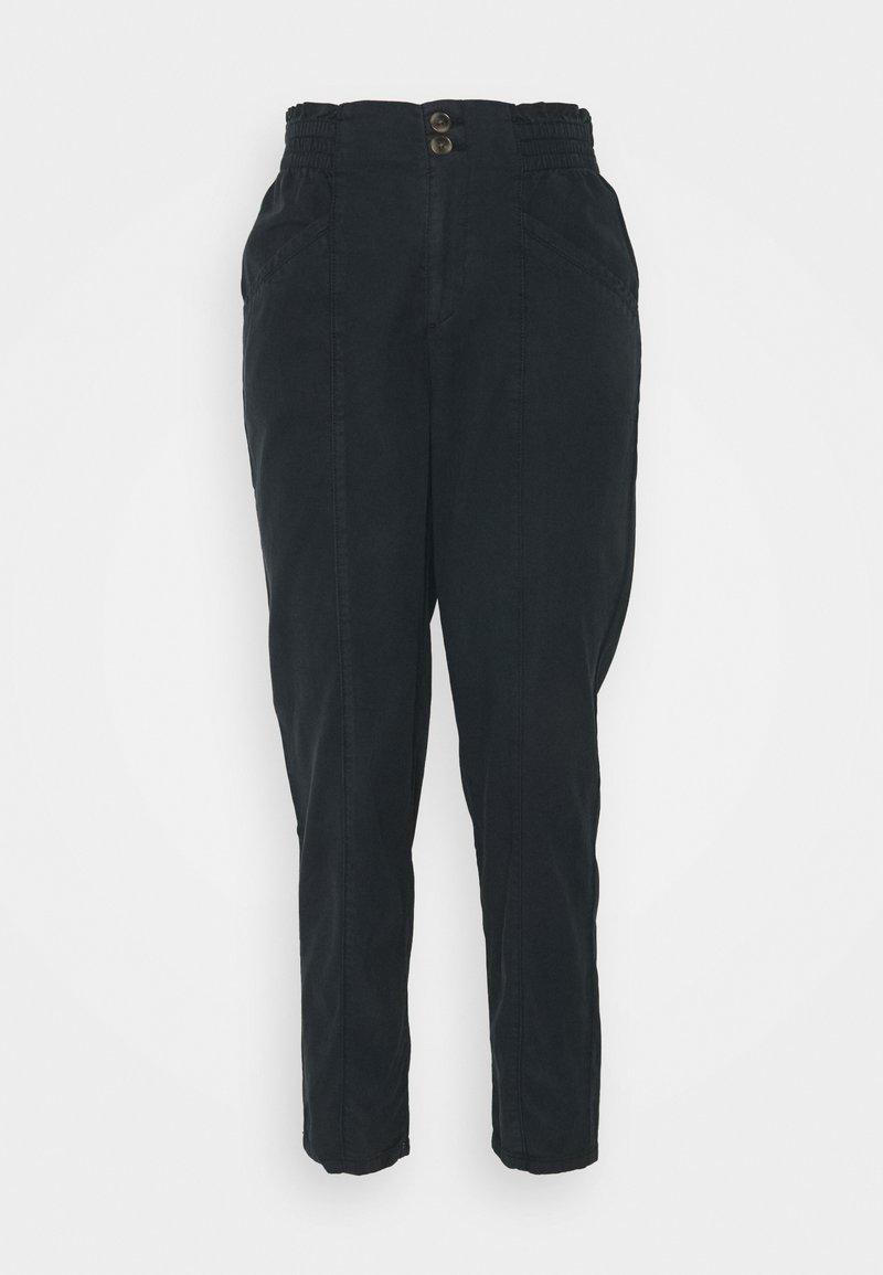 Esprit - RUFFLE - Trousers - navy