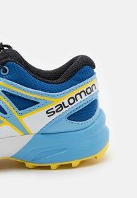 Salomon - SPEEDCROSS UNISEX - Hiking shoes - turkish sea/little boy blue/lemon zest - 5