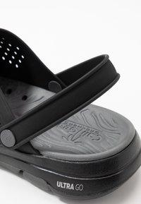Skechers Performance - GO WALK 5 - Pool slides - black/charcoal - 5