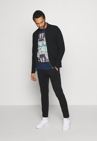 Jack & Jones PREMIUM - JPRGERAD ZIP CREW NECK - Cardigan - black - 1
