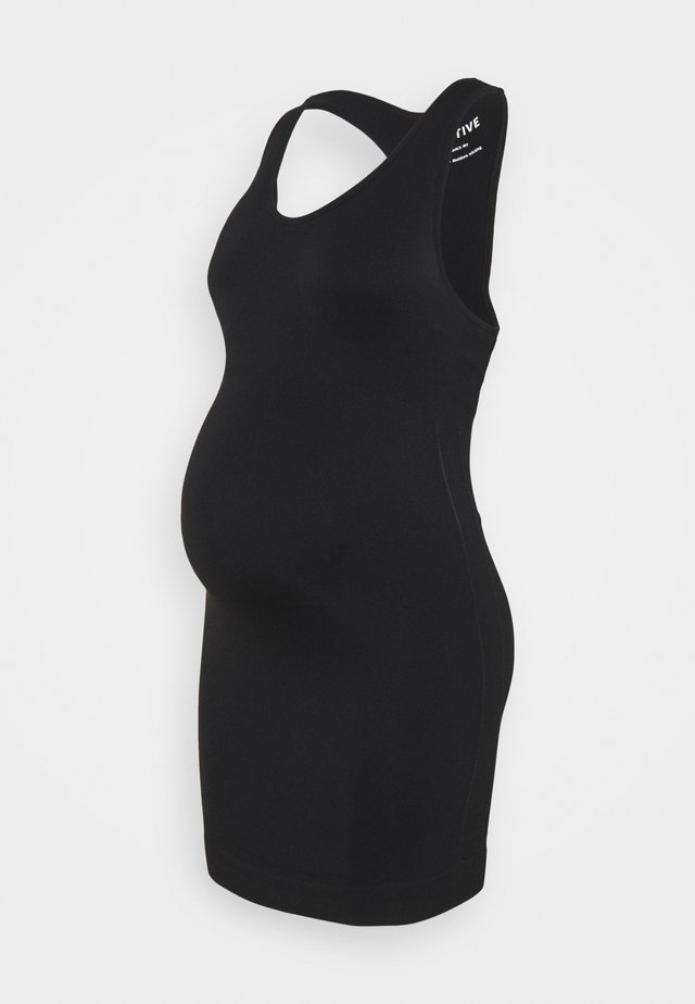 ACTIVE SUPPORT  - Vestito di maglina - black