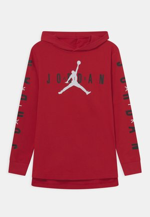 HOODED - T-shirt à manches longues - gym red
