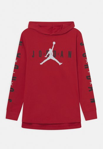 HOODED - Long sleeved top - gym red