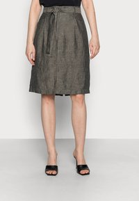 Opus - RAILA - A-line skirt - black oliv - 0