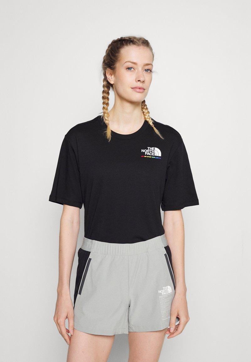 The North Face - RAINBOW TEE - Print T-shirt - black