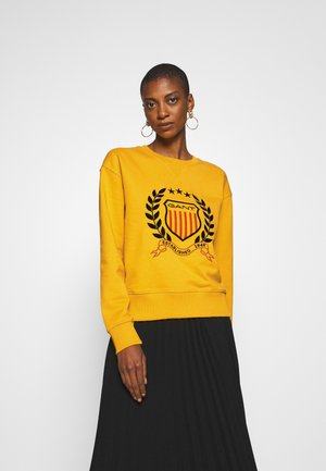 CREST NECK  - Sweatshirt - ivy gold