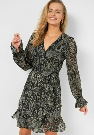 MIT PAISLEY-MUSTER - Day dress - schwarz