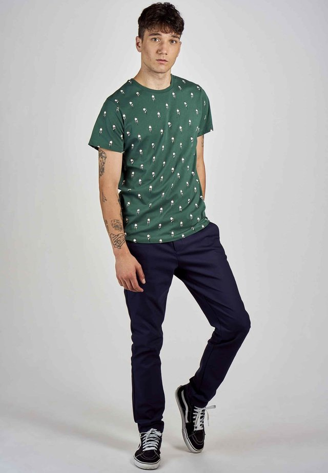 Print T-shirt - posy green