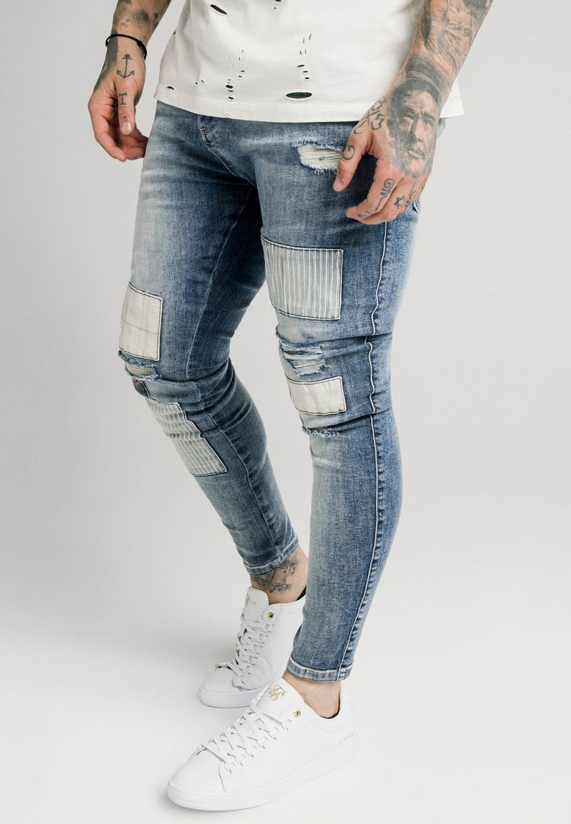 SIKSILK - LOW RISE FUSION - Jeans Skinny Fit - midstone