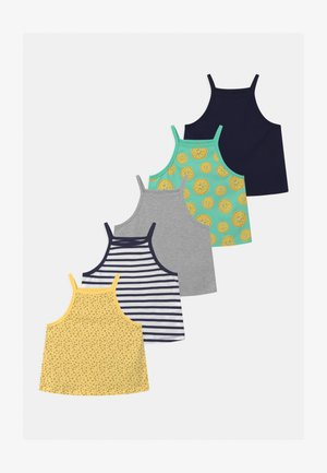 5 PACK - Top - yellow/dark blue/grey
