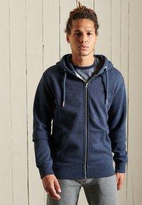Superdry - VINTAGE LOGO EMBROIDERED - Zip-up sweatshirt - vintage navy marl - 3