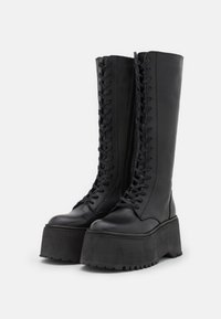 Zign - LEATHER - Lace-up boots - black - 2