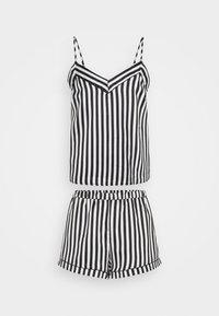 Loungeable - STRIPED CAMI SET - Pyjama - black/white - 0