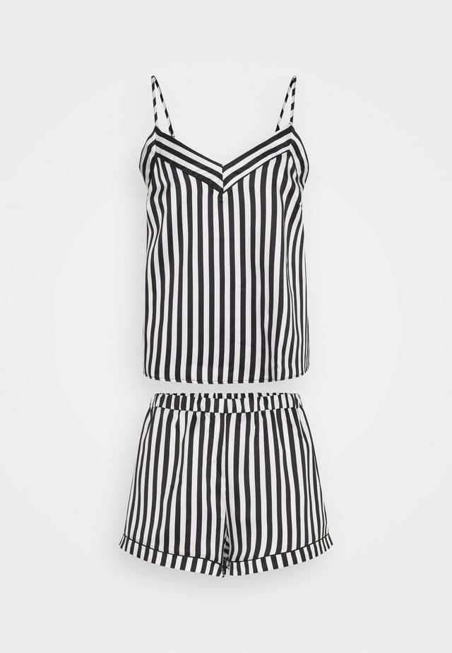 STRIPED CAMI SET - Pyjama set - black/white
