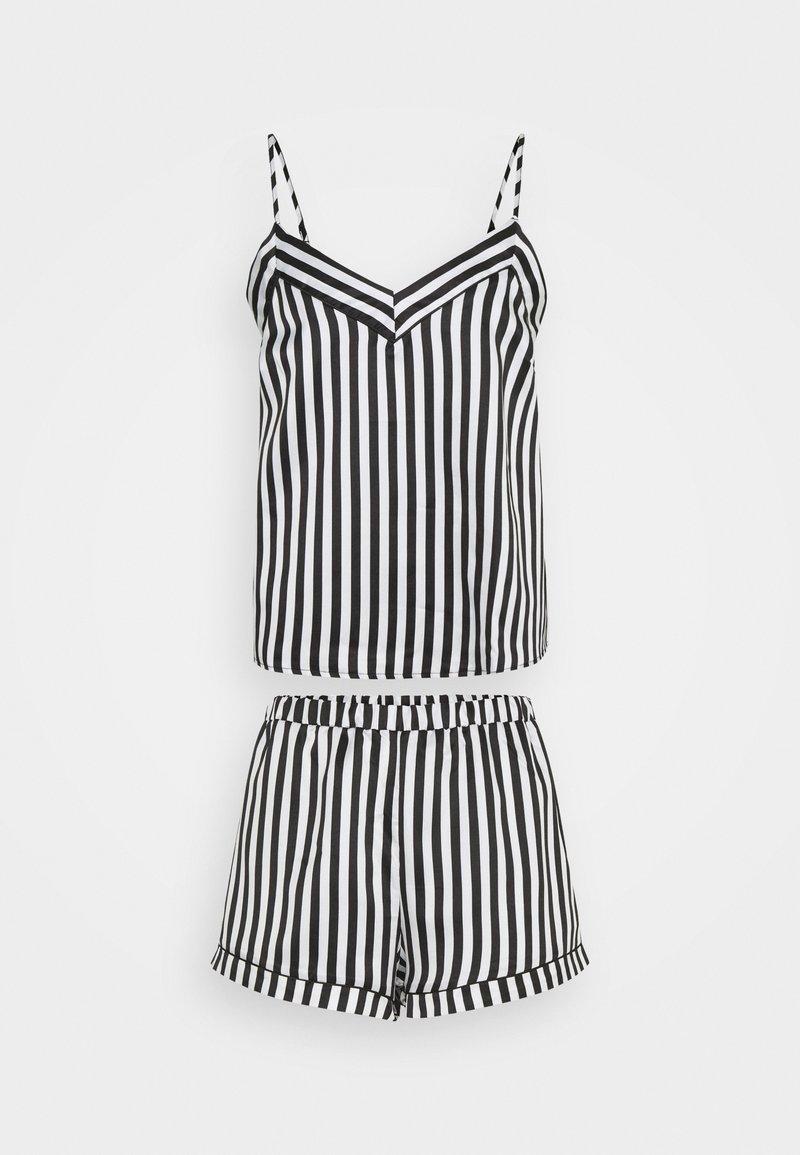 Loungeable - STRIPED CAMI SET - Pyjama - black/white
