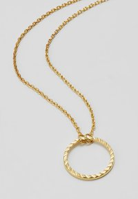 Orelia - CIRCLE CUT OUT DITSY NECKLACE - Necklace - pale gold-coloured - 4