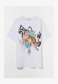 Bershka - MIT TIGERPRINT - Print T-shirt - nude - 4