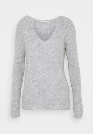 PCBABETT  - Stickad tröja - light grey melange