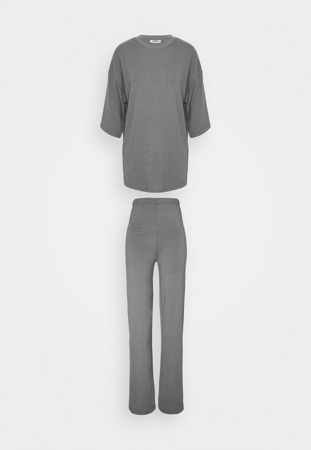 WIDE LEG TROUSER SET - Tygbyxor - grey