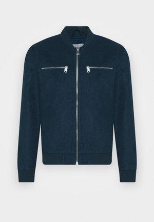 RRRAFAEL JACKET - Faux leather jacket - dark navy