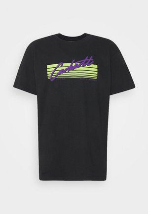 HORIZON SCRIPT - Print T-shirt - black