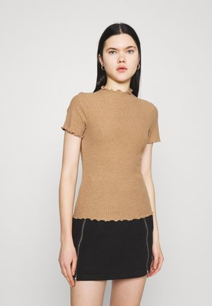 ONLEMMA HIGHNECK - Camiseta básica - toasted coconut melange