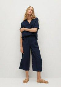 Mango - BYE - Trousers - azul marino oscuro - 1