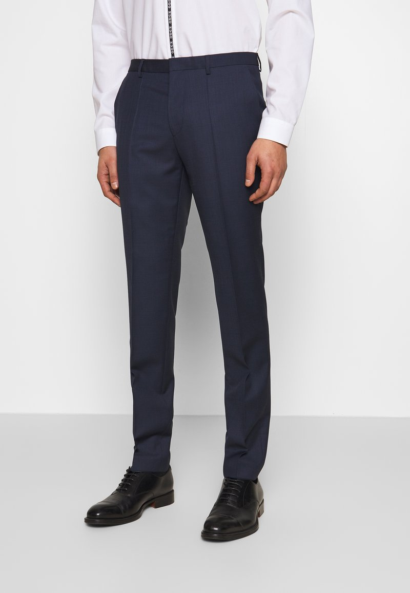 HUGO - HESTEN - Suit trousers - dark blue
