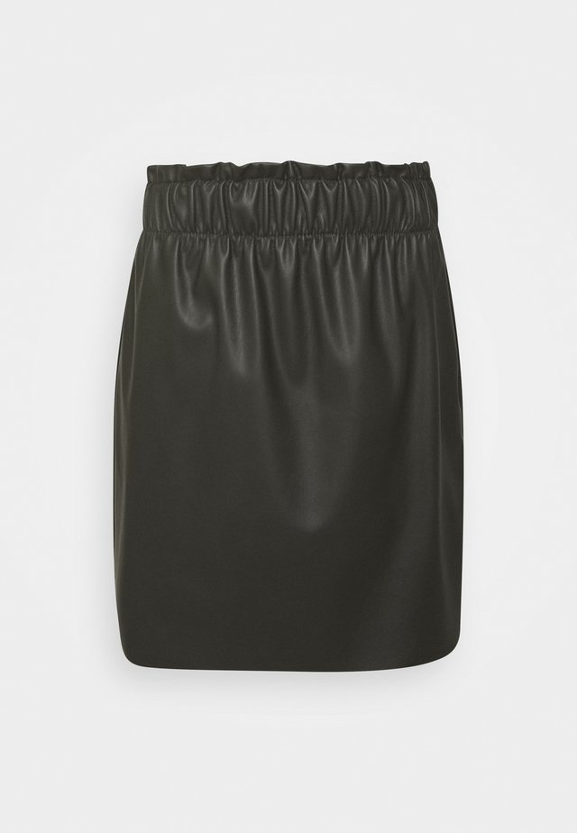 VMGWENRILEY PAPERBAG SKIRT - Mini skirt - peat