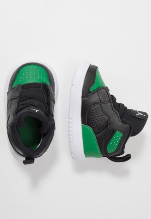 ACCESS - Basketball shoes - black/aloe verde/white