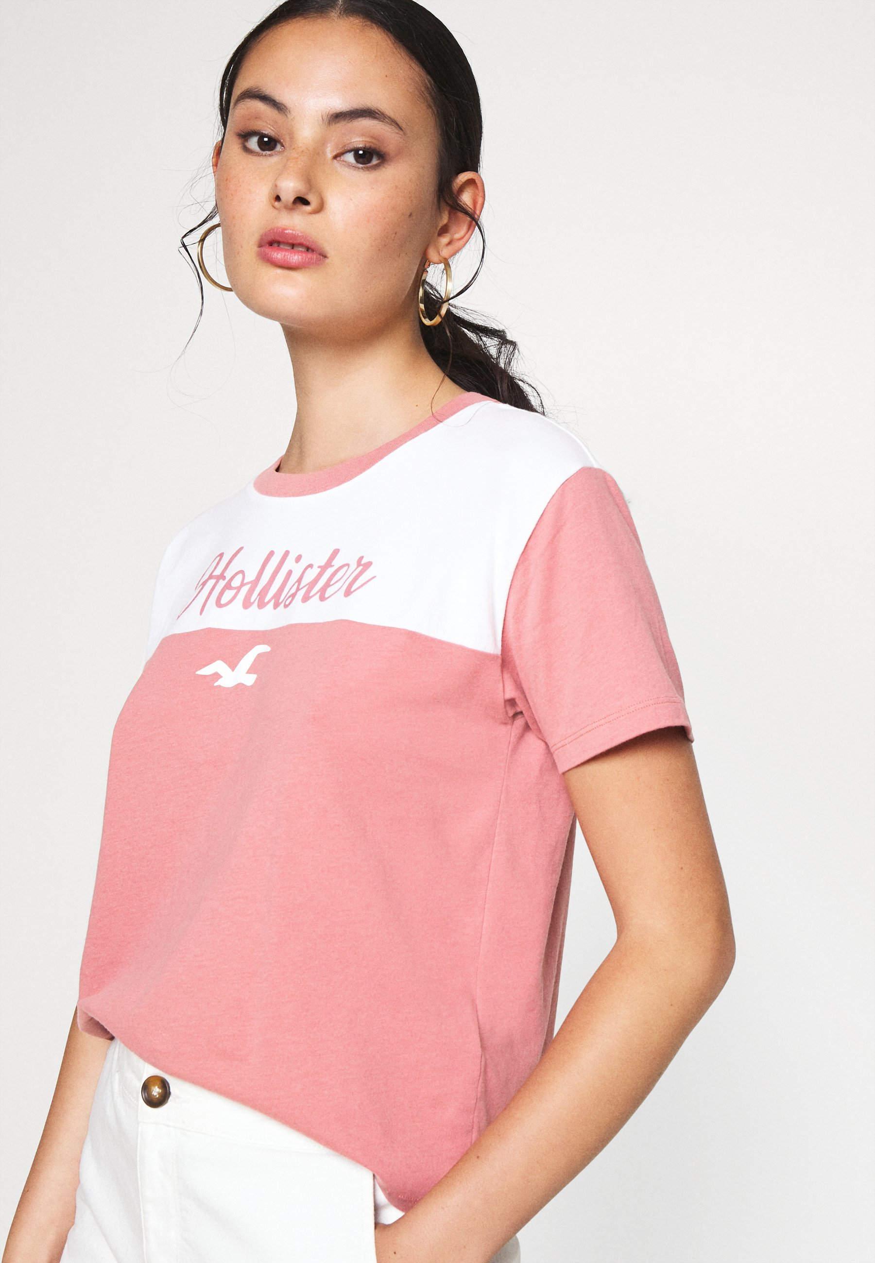 Hollister Co. Sporty - T-shirts Med Print Pink/lyserosa